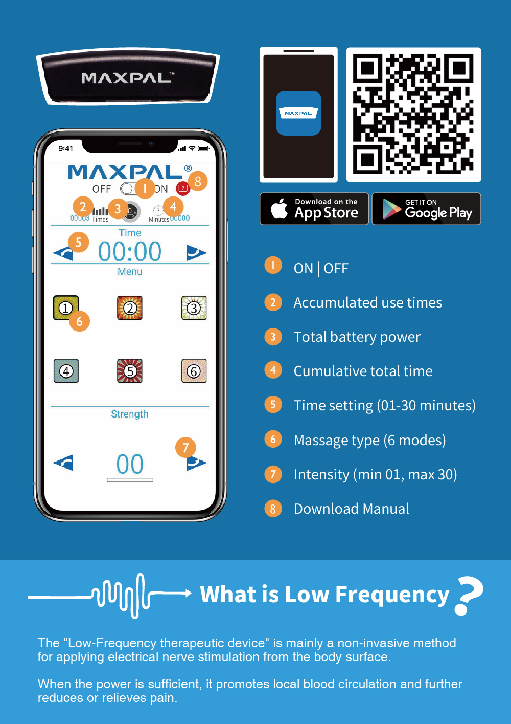 maxpal bluetooth massage app introduction